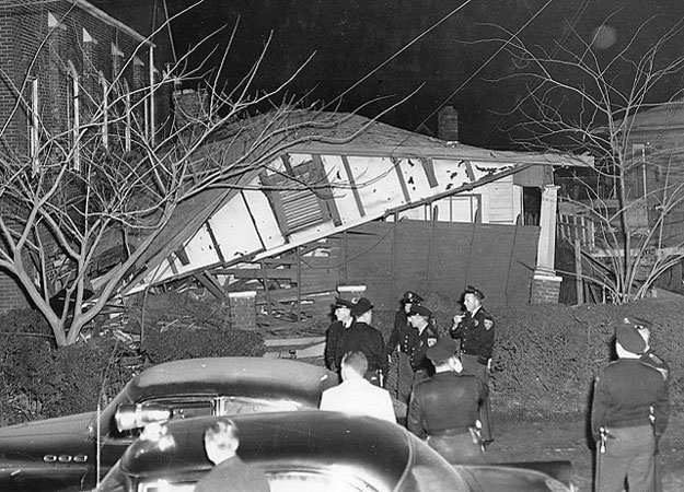 Bethel Parsonage destroyed by a terrorist bomb on December 25, 1956